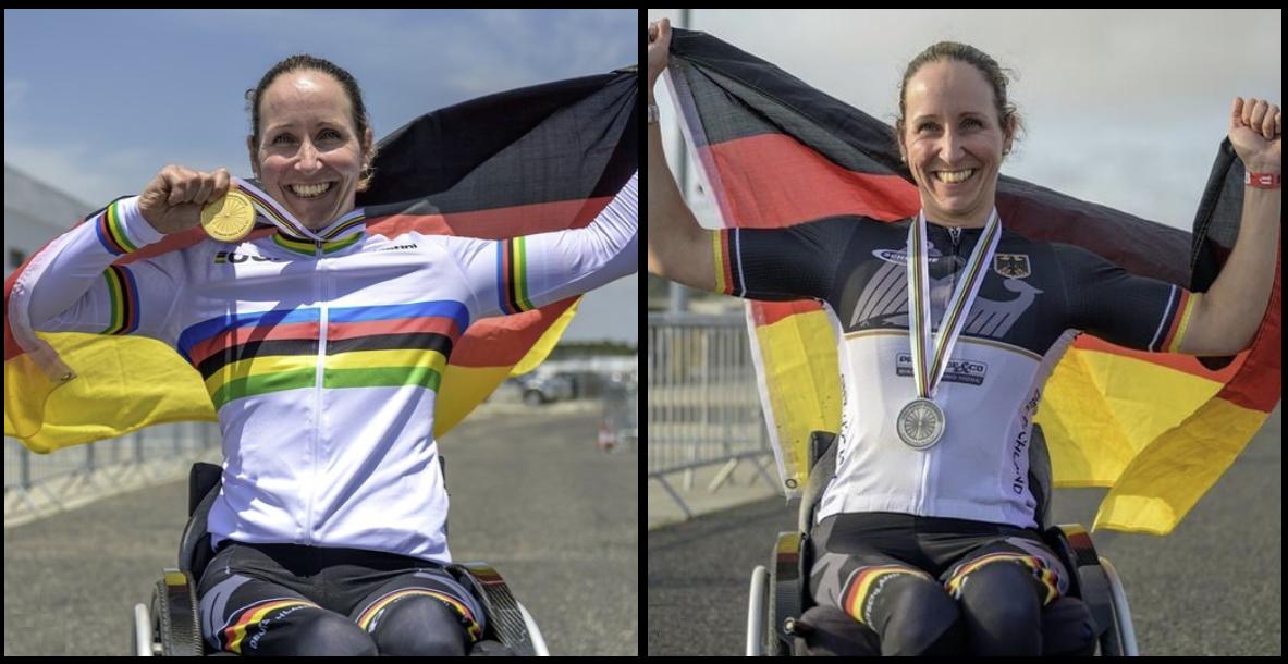 Arianna Zeyen medals at Para Cycling World Championships
