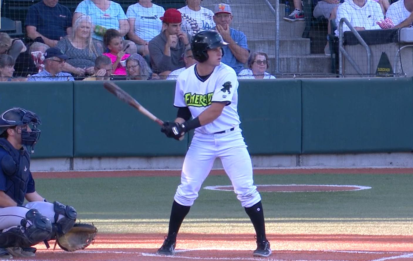 Brett Auerbach batting for Eugene Emeralds